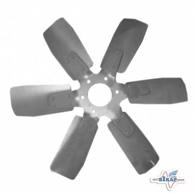 Крыльчатка вентилятора Д-260.1 МТЗ-1523 (6-ти лопастная, металл) (пр-во ММЗ)
