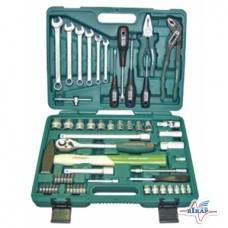 Набор инструмента головки (6-24мм), ключи торц. (8-17мм) 60 ед.
