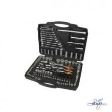 Набор инструмента: головки (4-32мм.) ключи, биты 120ед.(Miol)