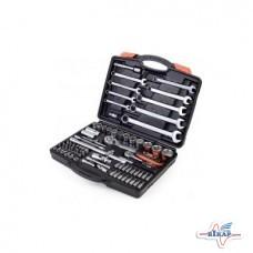 Набор инструмента: головки (14-32мм.) ключи (8-22), биты 82ед.(Miol)