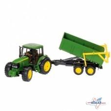 Модель трактора JD6920 с прицепом М1:16, JD
