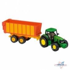 Модель трактора John Deere 7530 с прицепом M1:87, JD