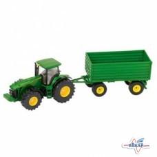 Модель трактора JD8430 с прицепом М1:50, JD