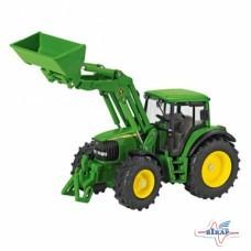 Модель трактора JD6820 с фронтальным погрузчиком М1:32, JD