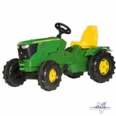Модель трактора 6210R пластмас, на педалях, JD