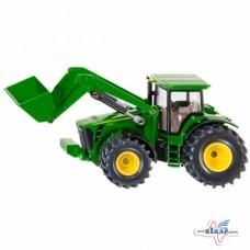 Модель трактора 7230R M1:64 с фронтальным погрузчиком, JD