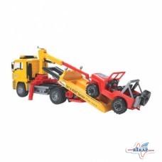 Модель автомобиля-эвакуатора MAN TGA с внедорожником M1:16 (BRUDER)