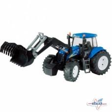 Модель трактора New Holland T8040 с погрузчиком М1:16, (Bruder)