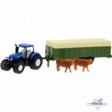Модель трактора New Holland с прицепом M1:87