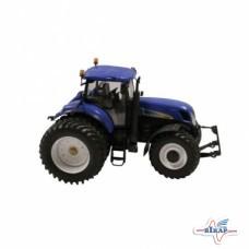 Модель трактора New Holland T7050 на сдвоенных колесах, M1:32 (ROS)