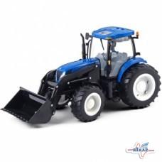 Модель трактора New Holland T7050 с погрузчиком, M1:16 (Britains)