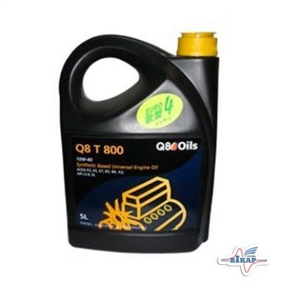 Масло моторное ( 5л ) полусинт. (Q8 T 800) (API: CI-4/SL) (ACEA:A3/B3/B4/E3/E5/E7)