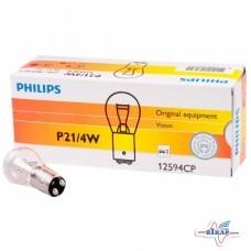 Лампа (стопы, повороты) 2-х контактная (P21/5W) (BAY15d) (пр-во Philips)