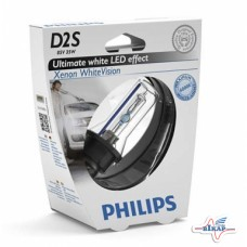 Лампа (фарная) (ксенон) (P32d-2) (White Vision) (пр-во Philips)