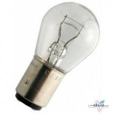 Лампа (стопы, повороты) 2-х контактная (P21/5W) (BAY15d) (R133302) (пр-во BOSCH)