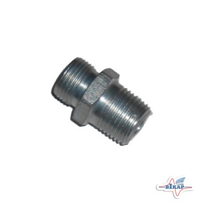 Штуцер соединительный РВД конусный дросельный (отв 2мм) ключ S24 (К1/2)