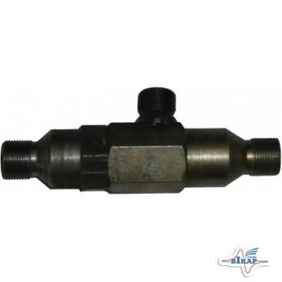 Клапан гидравлический 3 штуц. экскаватора (уст. на поворот стрелы) ЭО-2621