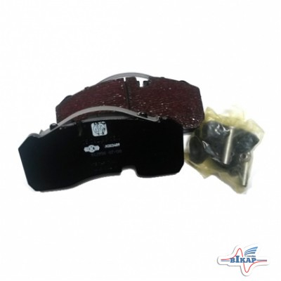 Комплект колодок диск.тормоза 0980108150 (WVA29165) (оригинал BPW)