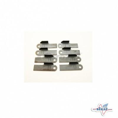Нож измельчителя подвижный зубчатый с лопатками (4xH212699.+4xH212700.), JD9880STS/S690/S560