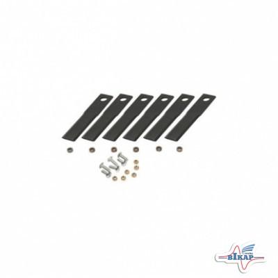 Молоток измельчителя подвижный гладкий с крепежом (AH124635/AH128359) (к-т 6 шт.), JD9500