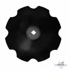 Диск бороны (ромашка) БГР (D=710мм, кв.42мм толщина 6мм) (СОЛОХА)