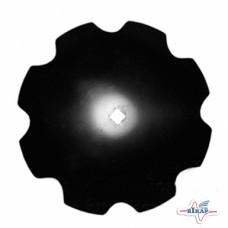 Диск бороны (ромашка) БДВП-6,3 (4,2) (Ф 710 мм. кв.41 толщина 6мм) КРАСНЯНКА- Bellota