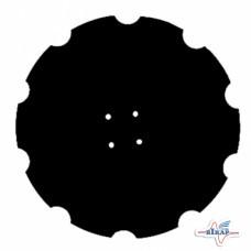 Диск бороны (ромашка) Quivogne DSQ05632 (Днар=610 мм,4отв вогнут.)z=10 (Борированный) (Велес-Агро)