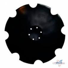Диск бороны (ромашка) Unia (Днар=510 мм) z=10 (Борированный) (Велес-Агро)