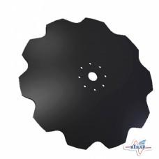 Диск бороны (ромашка) БН, БП (D=650мм, круг 46мм, 8 отв) (ВОСХОД)