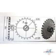 Звездочка колеса опорного (z=24) СЗМ (Велес-Агро)