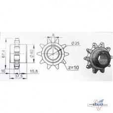 Звездочка промопоры колеса опорного (z=10, ступица на две стороны) СЗМ, СПМ-8